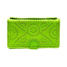 CLEOBELLA 'Mexicana' hand-painted leather clutch ❤ liked on Polyvore