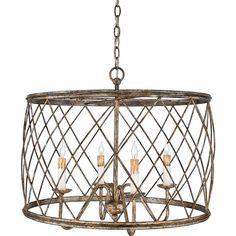 Trellis Cage Ceiling Chandelier Available In 2 Colors