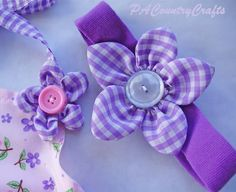 Puffy Petal Flower Tutorial by PA Country Crafts Bee Fabric, Fabric Bows, Fabric Scraps, Fabric Flowers, Diy Flowers, Headband Tutorial, Headband Pattern, Flower Tutorial, Bow Pattern