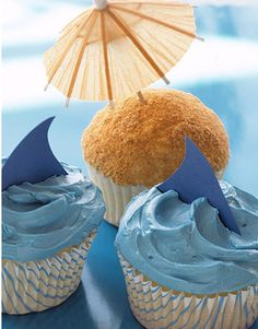 Cupcake idea - beach theme
