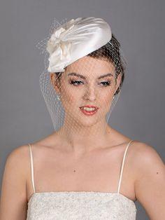 Elegant classical silk hat for the bride. White wedding hat. New design for 2021 weddings. Wedding Fascinators, Wedding Hats, Wedding Reception Planning, Face Veil, Dupion Silk, White Bridal, Ivory White, News Design, Chic Outfits