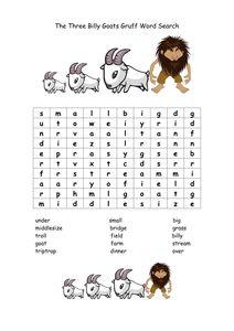 The Three Billy Goats Gruff: Lesson Plan & Worksheet