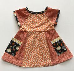 Fall Foliage Hodge-Podge Play Dress size 2 WTOKFHP by WhigsandTories on Etsy