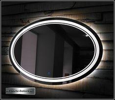 Oglinda baie ovala Laura cu iluminare