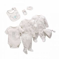 7 Piece Baby onesies,Romper,Teething Bibs,Hat,Pant,Cotton Coat,Baby gloves,White - Qclouth http://www.qclouth.com/product-7-piece-baby-onesies-romper-teething-bibs-hat-pant-cotton-coat-baby-gloves-white.html