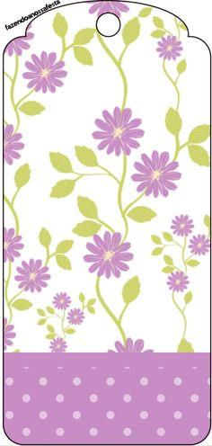 Tag Agradecimento Floral Lilás: