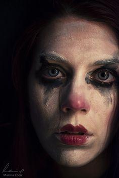 Pierrot Triste by Marina Ćorić Dark Portrait, Female Portrait, Portrait Art, Anais Nin, Dark Photography, Portrait Photography, Clown Images, Reference Photos For Artists, Photographie Portrait Inspiration