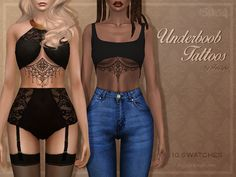 Sims 4 CC's - The Best: Underboob Tattoos by Trillyke