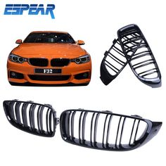 2X Front Grille M4 Look Kidney Grills for BMW 4-Series 435i 428i 2014 2015 High Quality Car Styling Accessory #9293 #Affiliate