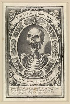 Mors Ultima Linea Rerum (Death the Final Boundary of Things), c1570Photograph: Wellcome Images/The Richard Harris Collection Death: Wellcome Collection http://www.guardian.co.uk/artanddesign/gallery/2012/nov/09/death-a-self-portrait-wellcome-collection?intcmp=239#/?picture=398753214=9