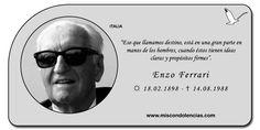 Enzo Ferrari - Piloto de Carreras y Empresario Italiano.