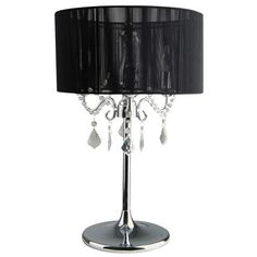 Left my beautiful bedside lamps in Australia and mum now has them, don't think I'm getting them back :/ Paris 3 Light Chrome Table Lamp With Black String Shade-Beacon Lighting