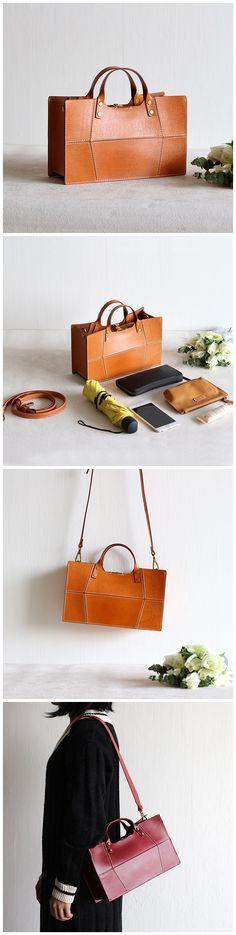 Handmade Women Vegetable Tanned Leather Bag Handbag Messenger Bag Shoulder Bag Cross Body Bag Women's Fashion
