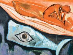 Francesco Clemente (Italian, b. 1952), Senza titolo, 1996. Oil on canvas, 122 x 160 cm.