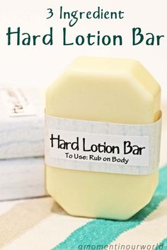 What is a Lotion Bar? + A Basic Lotion Bar Recipe, 5 Ways – Eco Living Mama Diy Lotion, Lotion Bars, Hand Lotion, Lotion En Barre, Diy Cosmetic, Homemade Soap Recipes, Homemade Scrub, Homemade Body Lotion, Castile Soap Recipes