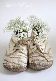Sweet vintage shoes with baby's breath