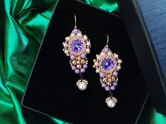Check out this item in my Etsy shop https://www.etsy.com/listing/588398994/long-swarovski-earrings-rose-gold