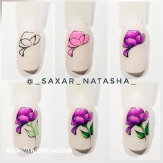 Nails Archives - Style and Designs Cute Nail Art, Easy Nail Art, Cute Nails, 3d Nails, Manicure And Pedicure, Animal Nail Art, Flower Nail Art, Nail Tutorials, Nail Arts