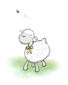 A personal favorite from my Etsy shop https://www.etsy.com/listing/72421395/nursery-art-springtime-lamb-8x10