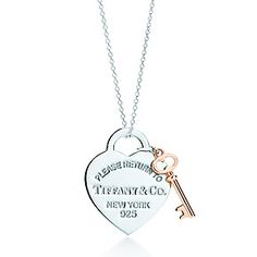 Tiffany & Co. | Item | Return to Tiffany™ heart key pendant in silver and RUBEDO® metal, medium. | United States