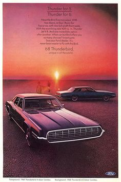1968 Ford Thunderbird Landau Advertising - National Geographic February 1968
