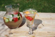 Melon Mint Sangria | Caleigh's Kitchen