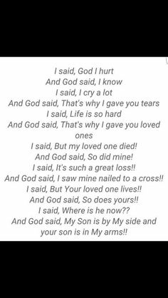 God said !!Loss of our Son
