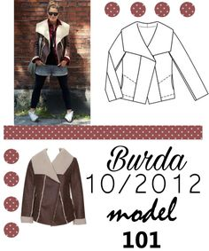 Zimowy kożuch uszyty z wykroju Burda 10/2012 Burda Patterns, Sewing, Model, Blog, Dressmaking, Couture, Stitching, Scale Model, Costura