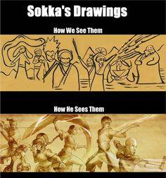 Sokka's drawings