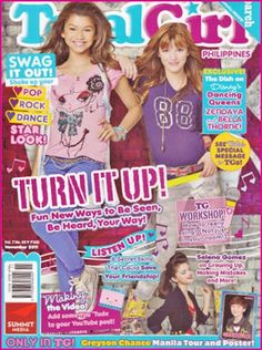 bella thorne magazine covers photos | Bella Thorne And Zendaya Coleman On The Cover Of Total Girl Magazine ...