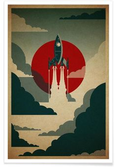 The Voyage by Danny Haas as Premium Poster | Buy online at JUNIQE ✓ Reliable shipping ✓ Discover new designs at JUNIQE now!