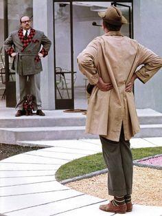 Jacques Tati & Billy Kearns in Mon Oncle (1958, dir. Jacques Tati)
