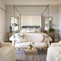 Bedroom Sofa, Transitional, bedroom, Dodson and Daughter Interior Design #manchesterwarehouse