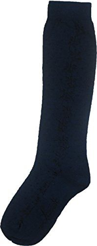Levante Girls Cotton Shine Floral Knee High Socks sock size 10 shoe size 3538 Navy >>> Be sure to check out this awesome product.