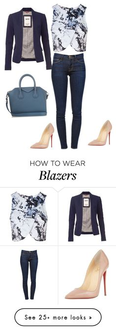 """Untitled #535"" by martinmel-mlm on Polyvore featuring Topshop, Tommy Hilfiger, Frame Denim, Christian Louboutin, Givenchy, women's clothing, women, female, woman and misses"