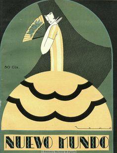 covers for the Spanish magazine Nuevo Mundo, circa 1919–30 by Tono (Antonio Lara de Gavilán (1896-1978)