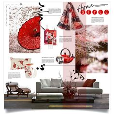 The world in a brush stroke by nyrvelli on Polyvore featuring interior, interiors, interior design, home, home decor, interior decorating, Le Creuset, RED, Kate Spade and EAST