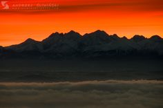Tatra Mountains at sunrise.