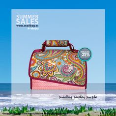 ¡Vuelven las rebajas de verano de Snailbag! Nuevo Snailbag Paisley Purple antes 38,20 euros... ¡ahora sólo 28,65 euros! Del 1 de julio al 1 de agosto de 2015 o hasta agotar existencias. Daos prisa. ¡Se agotan! #rebajas #Snailbag #lunchbag #tuppertime #sale #verano #summer #moda #fashion #handmade #MadeInSpain #ShopOnline  http://www.snailbag.es/shop/descuento-del-25/bolsa-porta-alimentos-isotermica-para-tuppers/lunchbag-snailbag-paisley-purple/