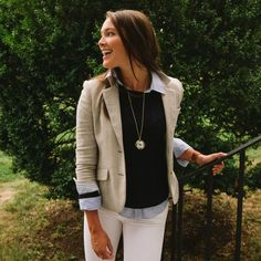 All about this look! Great early fall outfit combing both ends of the East Coast it seems.