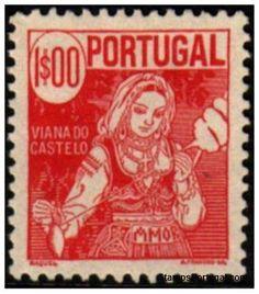 Selos - Afinsa nr 614 - Scott nr 612 - VIANA DO CASTELO - COSTUMES PORTUGUESES 1940.