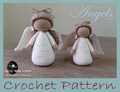 Angel Crochet Pattern PDF by CubbyHouseKids on Etsy https://www.etsy.com/listing/488826950/angel-crochet-pattern-pdf