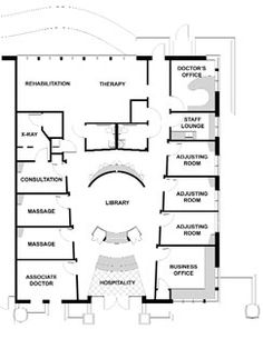 Chiropractic Office Floor Plan Semi Open Adjusting 1575