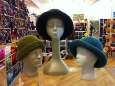 Have a Yarn - Stitch of the Month - Felted Hat in Galway Yarn - January 2013