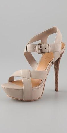 L.A.M.B. Evelyn Platform Sandals - StyleSays
