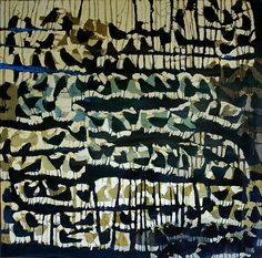this painting reminds me of a printed fabric used by an edgy designer like phillip lim or mociun.