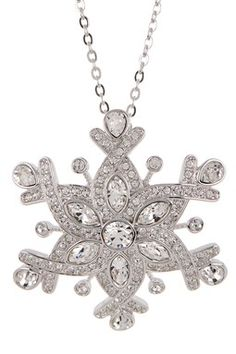 Snowflake Crystal Pendant Necklace