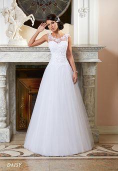 Suknie ślubne Fasson, Wedding dresses by Dorota Wróbel, Suknia Daisy, ramiączka
