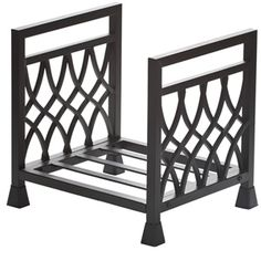 Diamond Black Wrought Iron Log Holder
