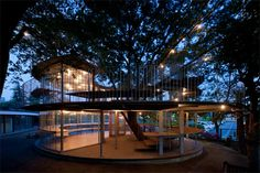 Watching trees meet untimely ends in the name of construction is heart-wrenching. But Japanese architectural firm Tezuka Architects figured out an elegant solution to the problem of a tree standing on the desired building site: they simply built around it.